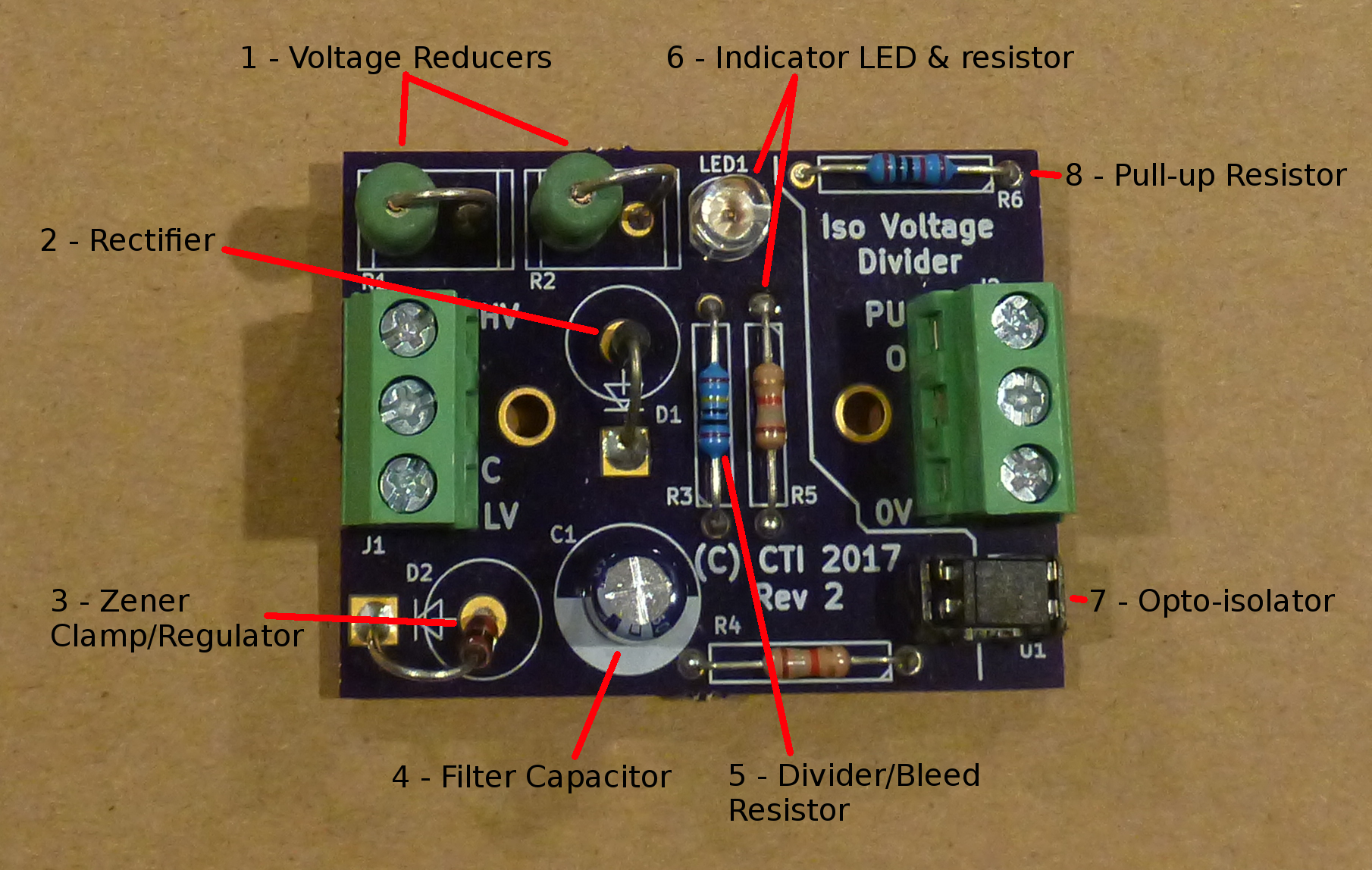 Versatile Voltage Divider Isolator Interface For Arduino Opto Circuit If You Just Want To See How It Works And Make One Yourself Here Is The Schematic Values Will Vary Not All Components Are Needed Depending On